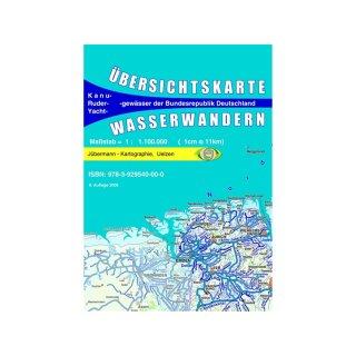 Übersichtskarte Wasserwandern (Kanu)