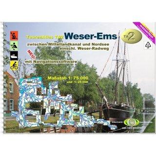 TourenAtlas TA2  Weser-Ems