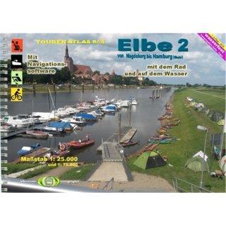 TourenAtlas TA8 Elbe-2,Magdebg. - Hamburg